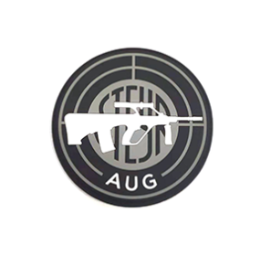 Steyr Arms AUG Round PVC Velcro Patch