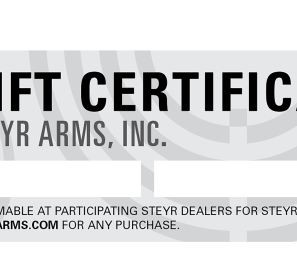 Steyr Arms Gift Certificate | $25 - $1000